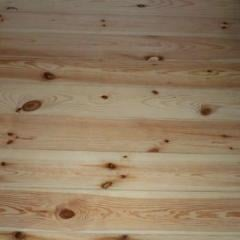 Boards of wooden floor pine - Ukraine. Laying.