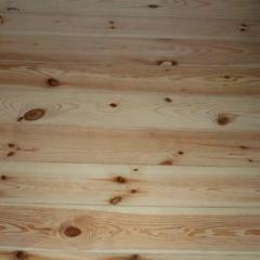 Boards of wooden floor pine - Ukraine. Laying of