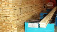 Wooden floor from pine