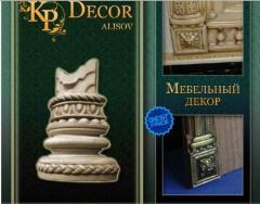 Фактурный декор, декор с имитацией дерева, резной