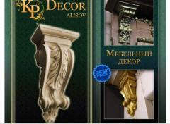 Декор мебельный, элементы из дерева, декоративные