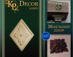 Элементы декора, элементы для мебели, резные