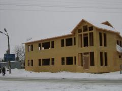 Frameworks wooden for houses