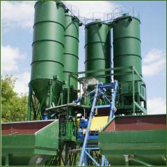 Warehouses of cement, sand, etc. bulk solids
