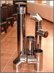 Flues from stainless steel.