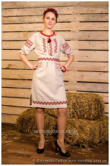 Dress vishity Ukrainochka with corset bel