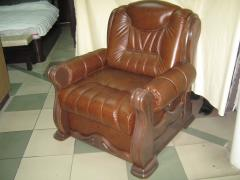 Chair from skin Napoleon, a photo of a leather