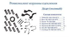 Remkomplekt baskets of coupling of MTZ (D-240)