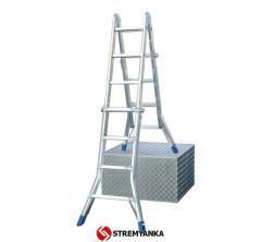 Hinged telescopic ladder of KRAUSE Stabilo 4х4