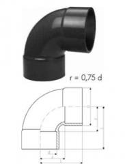 Elbows 90° short PVC-U metric