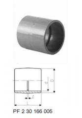 Муфты раструбные переходные, PVC-U метрические -
