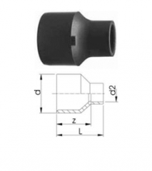 Втулки редукционные, PVC-U метрические