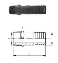 Fittings for hoses, PVC-U