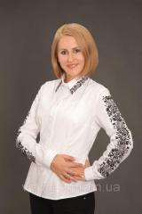 The embroidered women's shirt of