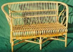 Sofa wattled of a rod