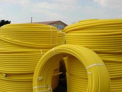 Pipes polyethylene for supply of combustible gases