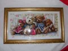 """Embroidered picture """"Teddy"""