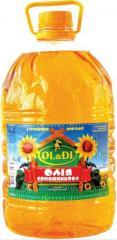 Purified oil the deodorized frozen