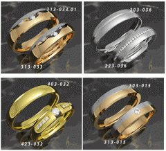 Кольца обручальные , золото 585 пробы с