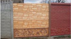 Декоративные бетонные заборы и декоративные