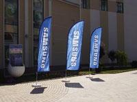 Флаги возле офисов и представительств фирм