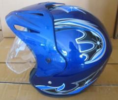 The helmet opened with a peak. XZH-01 TM York
