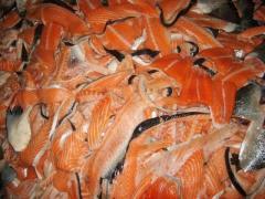 Cutting of salmon