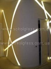 LED illumination of walls   Sokolglass