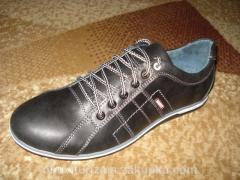 Туфли осенние кожаные спорт (44/46)