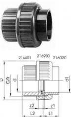 Разьемные муфты - заглушки, PVC-Uметрические