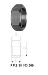 Cap nuts of couplings, stainless steel 1.4404