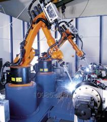 Robot manipulator welding