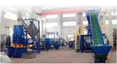 Production of lines for processing of waste of
