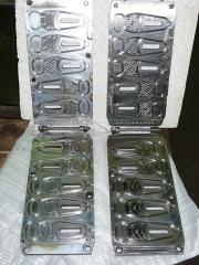 Compression molds for molding of sole to order