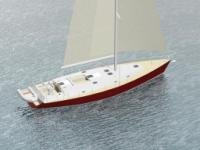 Парусно-моторная яхта, 18 метров
