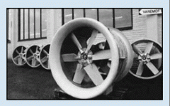 Fan industrial axial blade, axial krylchatka