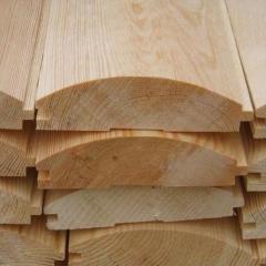 Wooden siding blockhouse from pine - Ukraine.