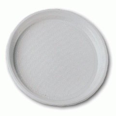 Plastic disposable plate of 16 cm of 100 pieces in