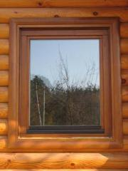Eurowindows wooden, wood-and-aluminum