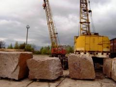 Blocks granite, cubic meter.