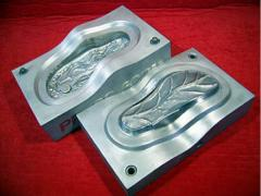 Compression molds for molding of polymers by