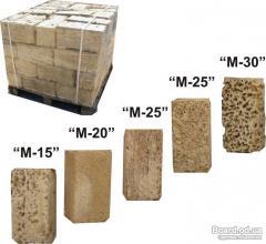 Stone wall shell rock Crimean