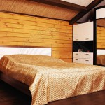 Wall panelling for a sauna. Imitation of timber,