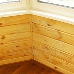 Dry wall panelling. Imitation of a cant from pine