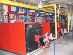 Gas-fired industrial boilers Topaz (capacity 100 ... 3500 kW) for heating and hot water utility buildings, farm and industrial facilities.
