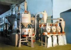 Агрегат жерновой НО.6280 для переработки зерновых культур в крупу и муку для получения из зерновых культур крупяных изделий (пшеничная, перловая, ячневая и гороховая крупы), муки первого и второго сортов, а также обойной муки.