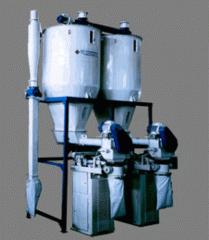 Установки весовыбойные УВВ-2 (2400кг), УВВ-3 (3600кг) для дозирования при расфасовке в открытые мешки .Технологическое Оборудование для взвешивания и дозирования зерноперерабатывающих предприятий и мукомольных мельниц