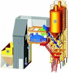 Бетоносмесительные заводы и установки УБРС.040 ( 40м.куб/час ) , УБРС.060 ( 60м.куб/час ) включают все необходимое оборудование для производства товарного бетона и строительных растворов.