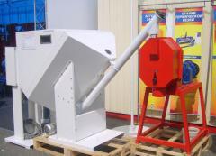 Станки для производства топливных гранул (пеллет) производительность - 60 кг/час из мелких древесных отходов (опилок) путем прессования на вращающейся цилиндрической матрице.