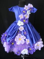 Нарядное платье для девочки Фиалка Монмартра